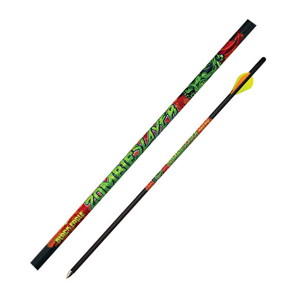 "Black Eagle Zombie Slayer Crossbow Fletched Arrows - .003"" Half Dozen - 18"""