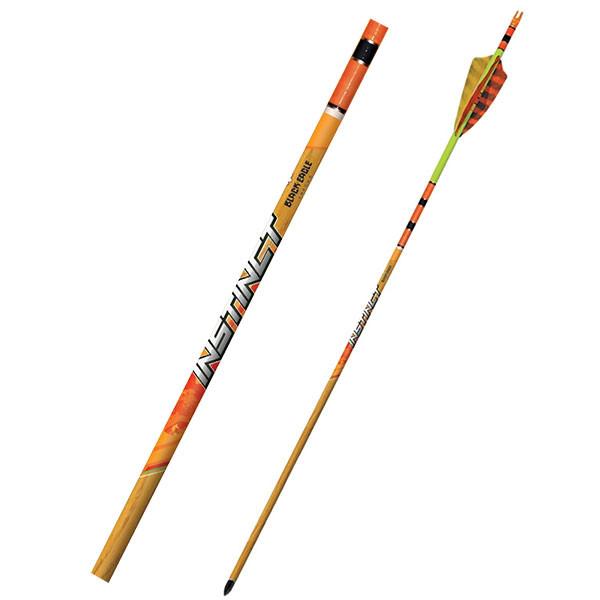 "Black Eagle Instinct Crested Feathers Yellow/Orange - .005"" 6 Pack - 600"