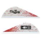 Bohning White Blood Splatter Blazer Vanes - 100 Pack