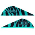 Bohning Teal Tiger Blazer Vanes - 100 Pack