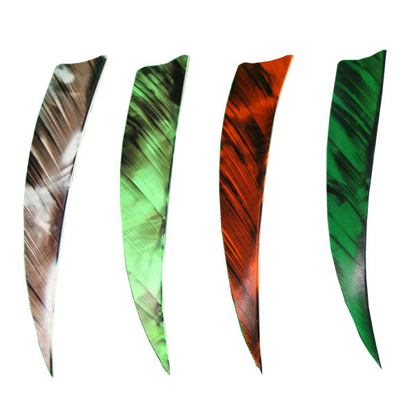 "Muddy Buck Gear 5"" LW Shield Cut Feathers - 50 Pack (Camo Green)"