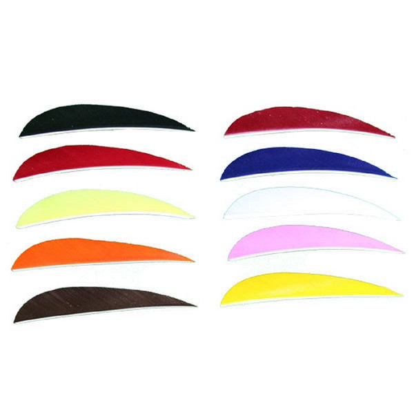 """Muddy Buck Gear 5"""" Parabolic RW Feathers - 50 Pack (Red)"""