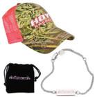 Hoyt Ladies Pink Mesh Max-1 Cap & Vicxen Bracelet