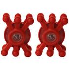 BowJax RizrJax Dampeners (fits up to 1 1/4 diameter) - Red