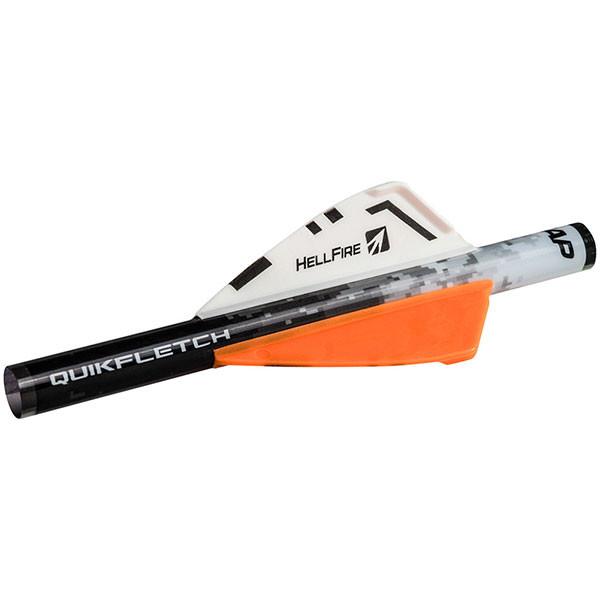 """NAP Quikfletch 2"""" Hellfire - White/Orange/Orange (6 PACK) - 60-034"""