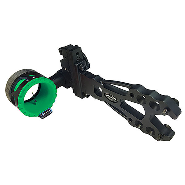 Axion Shift Single Pin Sight - Black w/Green Guard 1 Pin .019 RH