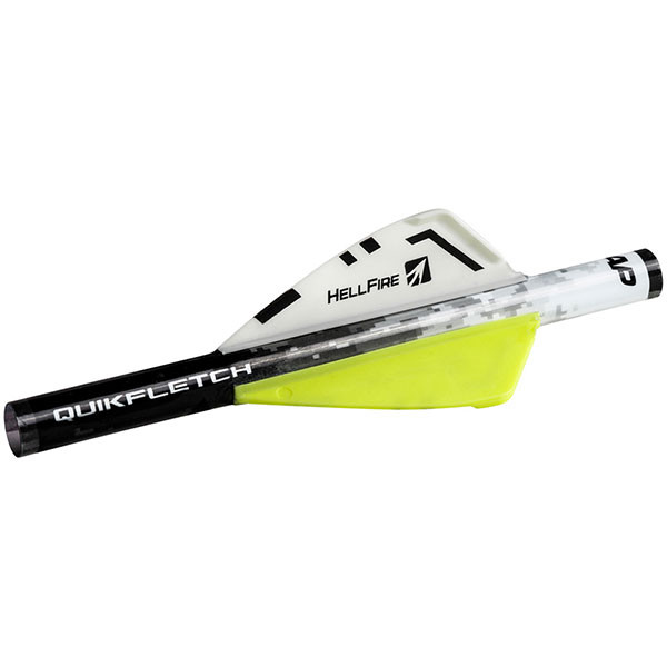 "NAP Quikfletch 2"" Hellfire - White/Yellow/Yellow (6 PACK) - 60-033"