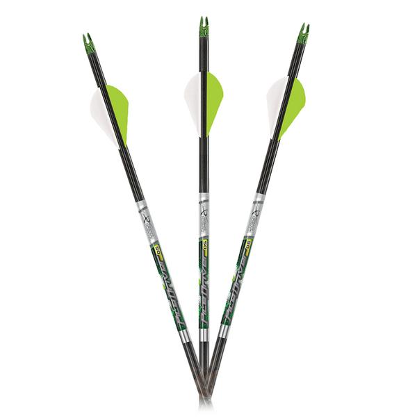 "Carbon Express PileDriver DS 250 Hunter Arrows w/ 2"" Vanes - 6pk"
