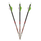 "Carbon Express Maxima Red Badlands 250 Arrows w/ 2"" Blazer Vanes - 6pk"