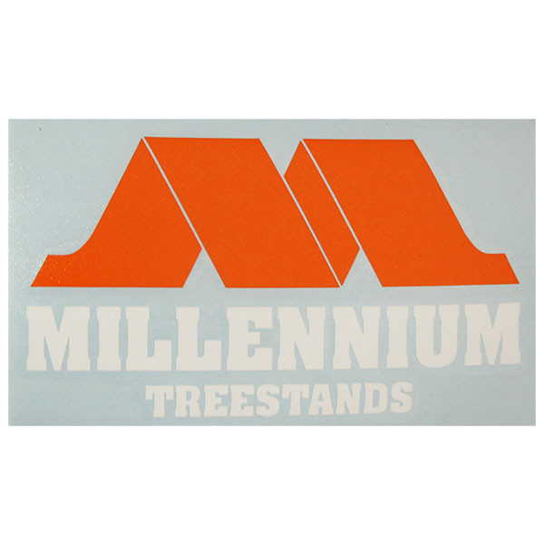 Millennium Logo Window Decal 6.5x3.5