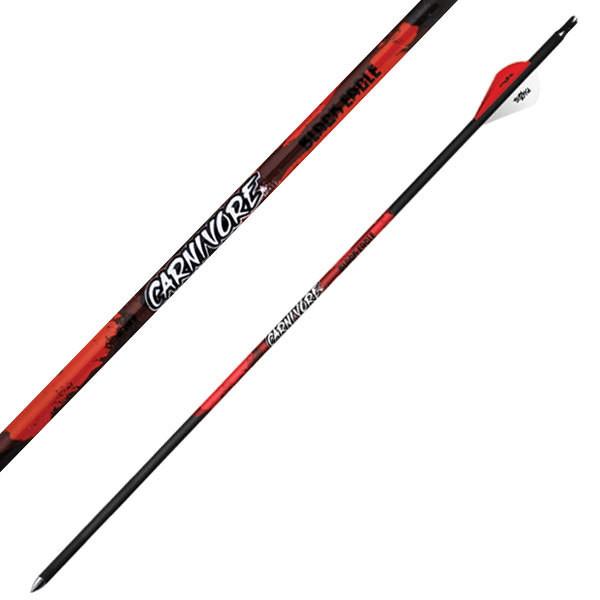 "Black Eagle Carnivore Ultra-Lightweight Fletched Arrow - .003"" 6 Pack"