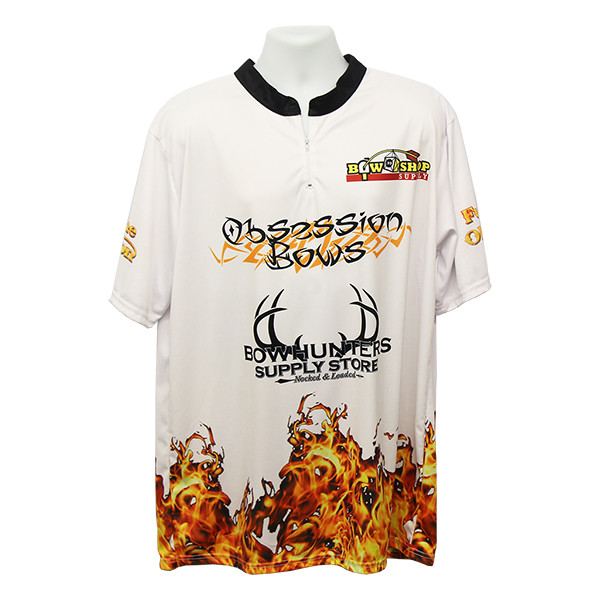 Bowhunters Supply BHSS Logo Obsession Flame Jersey - White - Large