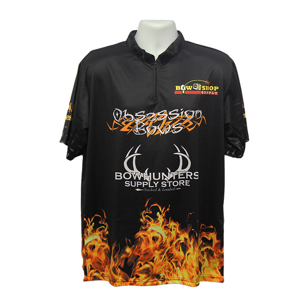 Bowhunters Supply BHSS Logo Obsession Flame Jersey - Black - Medium