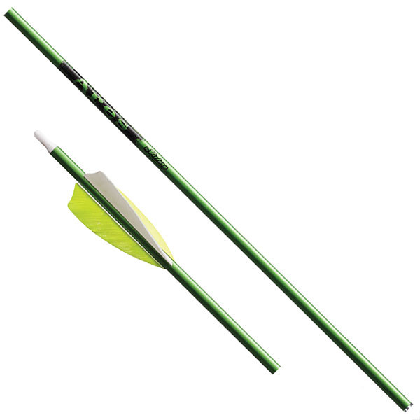 Victory Ares Green Feather Fletched - 3 Pack