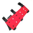 "PSE 7"" 3 Strap Armguard RED"