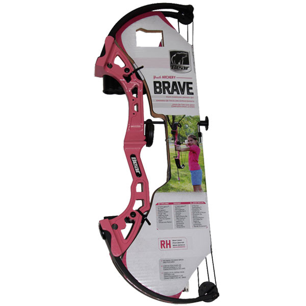 Bear Archery Brave Bow Set w/Biscuit RH Pink