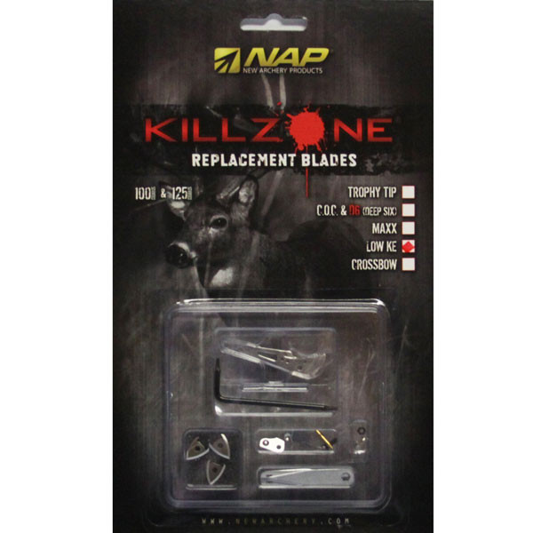 NAP KILLZONE 100 LOW KE REPLACEMENT BROADHEAD BLADES COC (6 PACK) 60-731