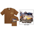 BSS Deer Graphic T Shirt Chestnut XL