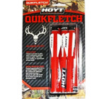 Hoyt Archery Quikfletch Red w/White vanes 6 Pack #646496