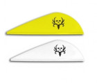 NAP Twister Bone Collector Vanes 2 in. 36 pk White/Yellow