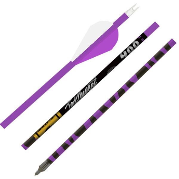 Gold Tip Nugent - Purple - 500 - 2in Raptor Vanes - 1/2dz