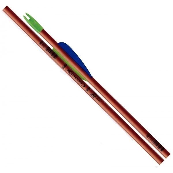"Easton Scout 2 26"" Fiberglass Youth Arrows w/ 3"" vanes 4pk #517705"