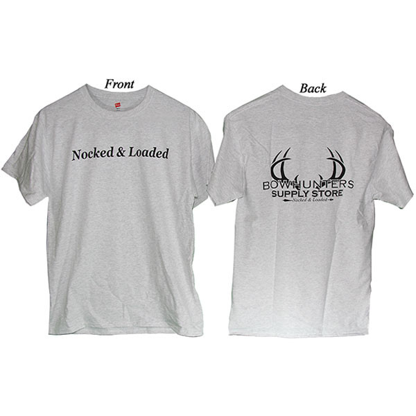 Bowhunters Supply Store Tee Ash/Black Small