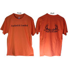 Bowhunters Supply Store Tee Orange/Black Large