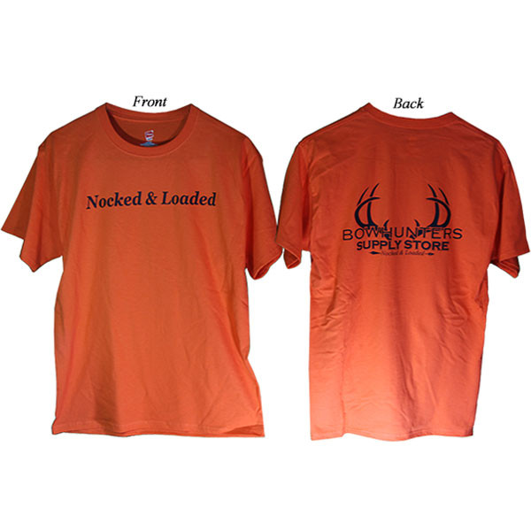 Bowhunters Supply Store Tee Orange/Black XL