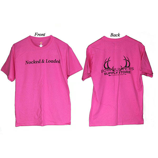 Bowhunters Supply Store Tee Wow Pink/Black Medium