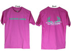 Bowhunters Supply Store Tee Wow Pink/Green Medium