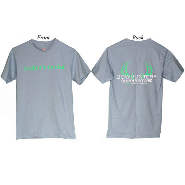 Bowhunters Supply Store Tee Stonewashed Blue/Green 2XL