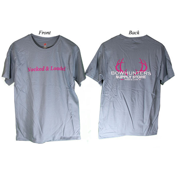Bowhunters Supply Store Tee Blue/Pink Medium