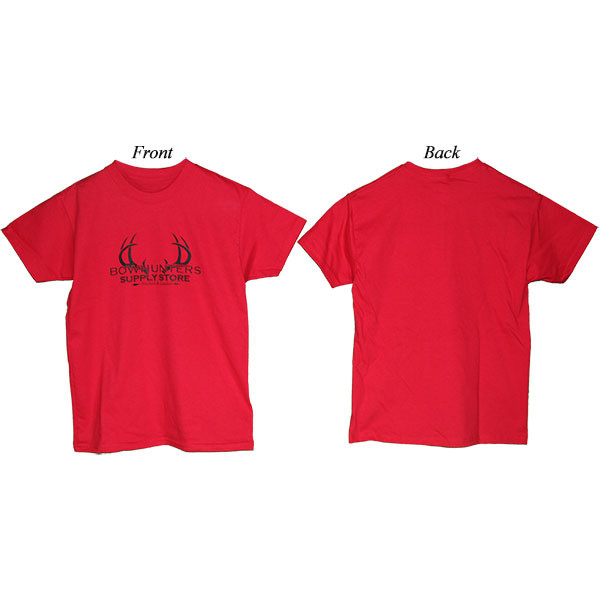 Bowhunters Supply Store Youth T-Shirt Deep Red XL