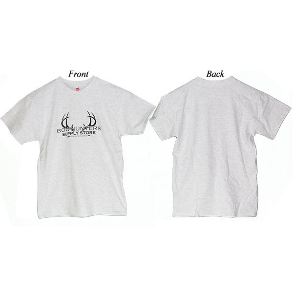 Bowhunters Supply Store Youth T-Shirt Light Steel XL