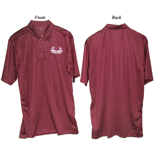 Bowhunters Supply Store Polo Maroon/White XL-T