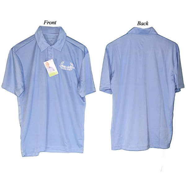Bowhunters Supply Store Polo Carolina Blue/White Medium