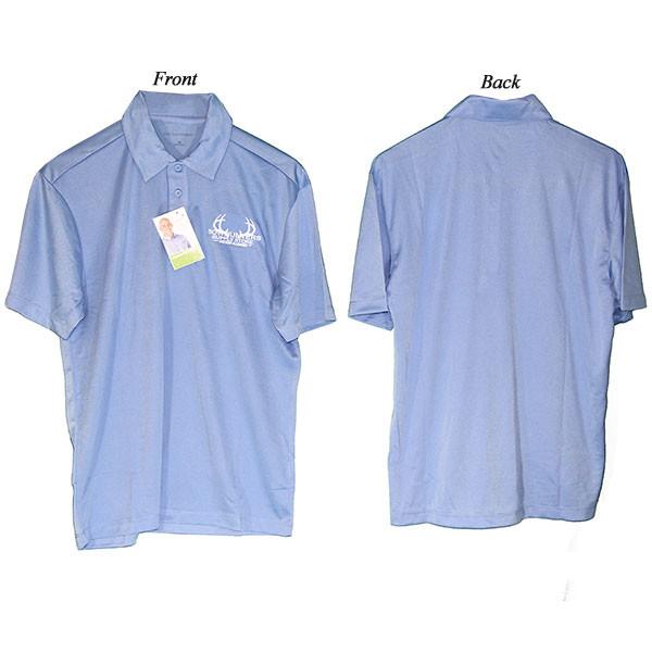 Bowhunters Supply Store Polo Carolina Blue/White 2XL