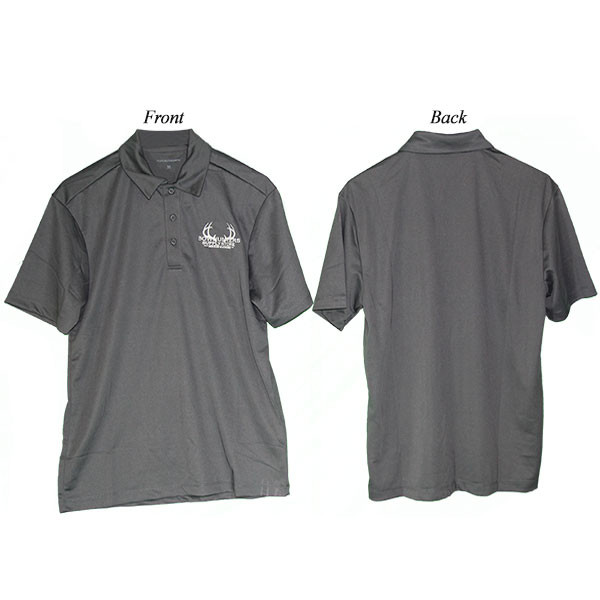 Bowhunters Supply Store Polo Steel Gray/White Large