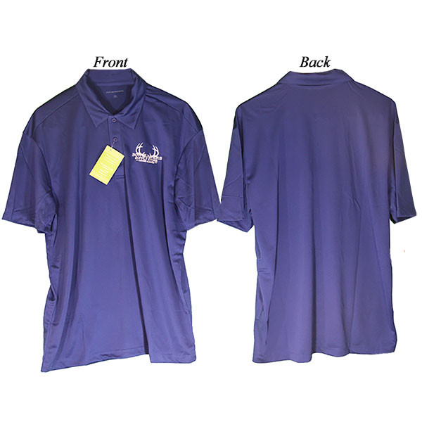 Bowhunters Supply Store Polo Royal Blue/White XL