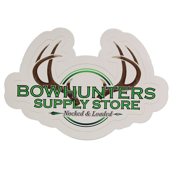 Bowhunters Supply Store 6 x 4 Decal w/Brown Antlers