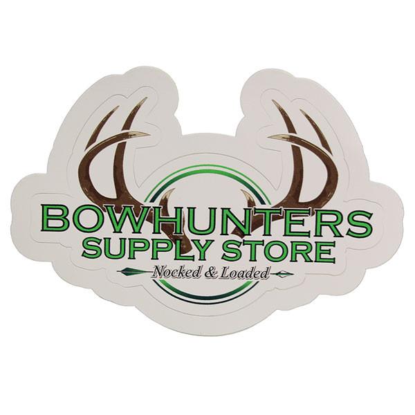 "Bowhunters Supply Store 4"" Green Circle Logo Decal"