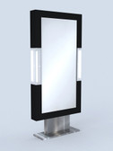 9202 Domino Mirror Single Styling Station in Black
