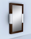 9205 Domino Wall Mirror in Rubberwood Wenge