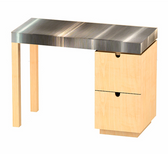 9140 Manicure Table w/ Stainless Top