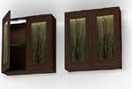 9206 Illuminated Wall Cabinet in Cocoa