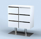 9219 Spa Drawer on Stand in White