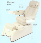 Pibbs PS76P Florence Pedi Spa w/Massage and Recline