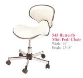 Pibbs 545 Butterfly Mini Pedi Stool with Backrest