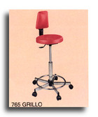 Pibbs 765 Grillo Stool with Backrest